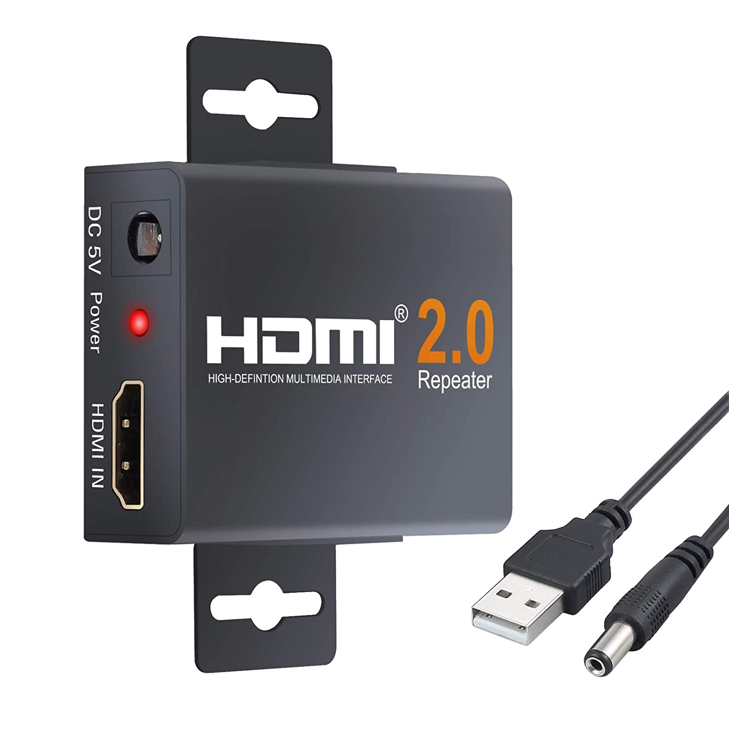 LiNKFOR HDMI Repeater 2160P 4K 3D HDMI Booster Signal Extender Adapter Over Signal HDTV 60 Meters Lossless Transmission for Data Center Control, Information Distribution, Conference Room Presentation, School and Corporate Training Environments