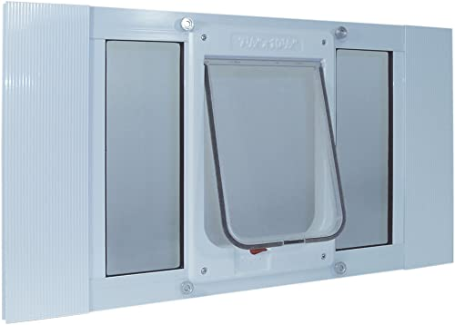 Ideal Pet Products Aluminum Sash Window Pet Door, Adjustable to Fit Window Widths from 23 to 28