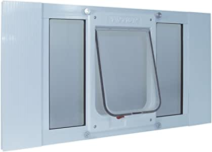 """Ideal Pet Products Aluminum Sash Window Pet Door, Adjustable to Fit Window Widths from 27"""" to 32"""""""