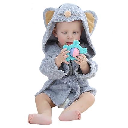 Bata de baño con capucha y toalla Dingang® para bebé, de