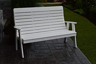 product image for Outdoor Winston Garden Bench - 5 Feet - White Poly Lumber