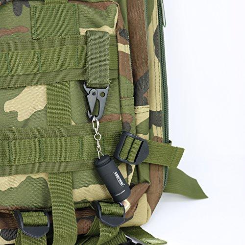 COM-FOUR® 6x Karabiner aus Metall mit Klettverschluss, Schlüsselanhänger in olivgrün, khaki und schwarz, 9,5 x 3 cm (06 Stück) 06 Stück