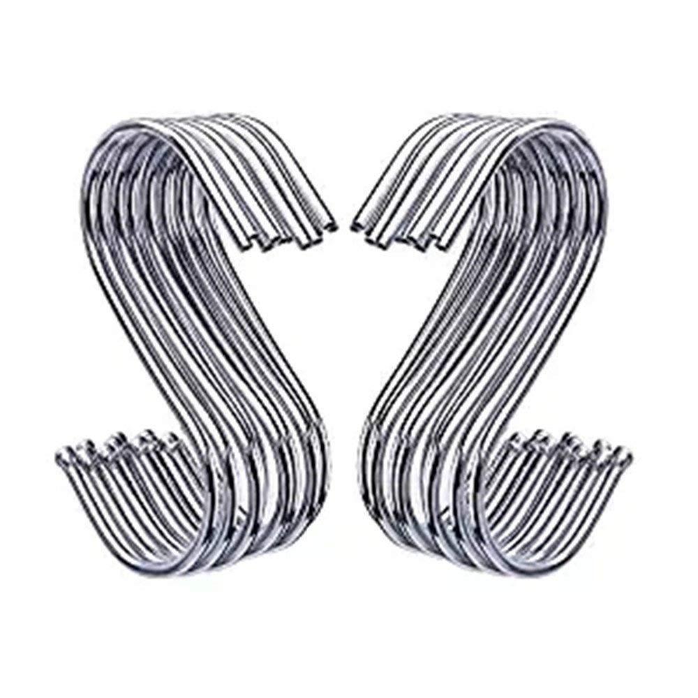 VNFEI 20 30 Pack S Shaped Hooks Hanging Hooks Hangers for Bathroom Bedroom Office and Kitchen 30 Packs