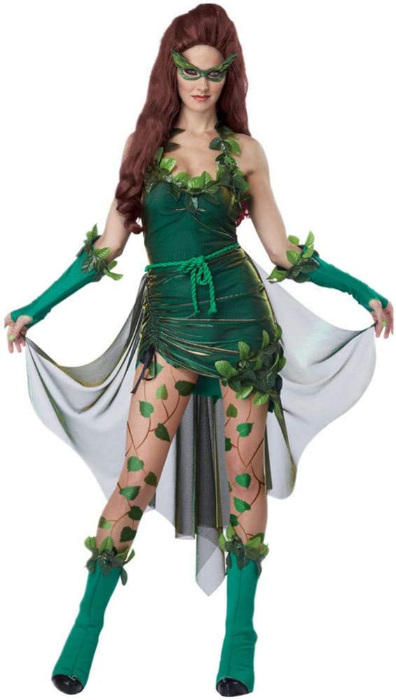 GBYAY Disfraz de Hiedra venenosa de Belleza letal para Mujer ...