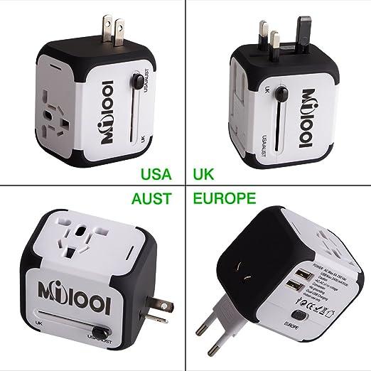 224 opinioni per Travel Adapter Adattatore Universale da Viaggio Milool Universal Multipresa