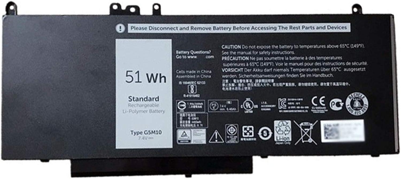 Dentsing G5M10 51Wh 7.4V Battery for Dell Latitude E5450 E5550 Laptop R9XM9 8V5GX
