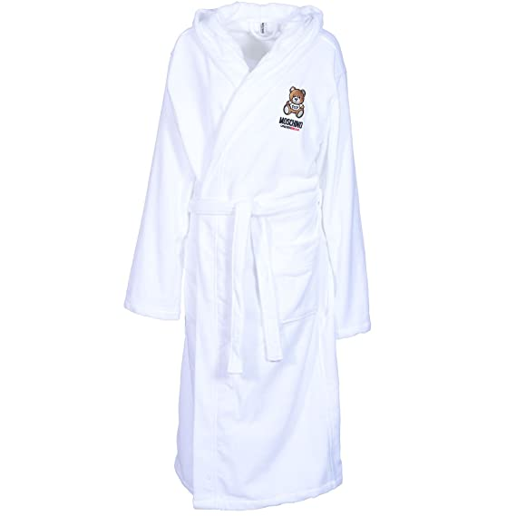 Moschino Men Pure 100% Cotton Luxury Bath Robes Dressing Gowns With ...