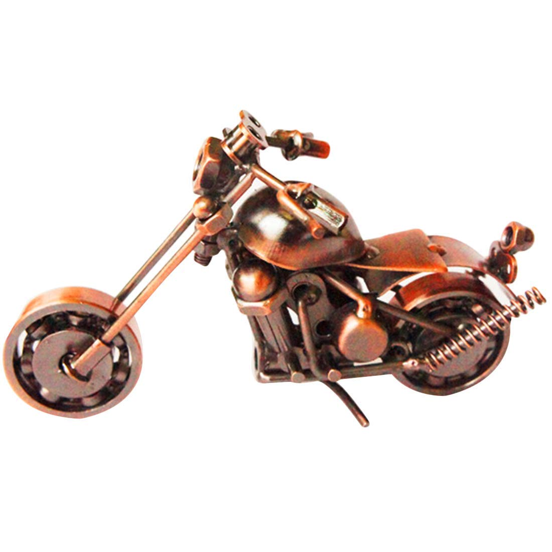 YoHouse Creative Home Decoration Iron Model Knick-knacks Metal Motorcycle Model Bronze