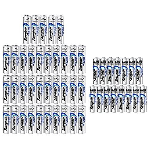 Energizer 35AA+15AAA (50 Pack) Ultimate Lithium Long Lasting Leakproof Batteries