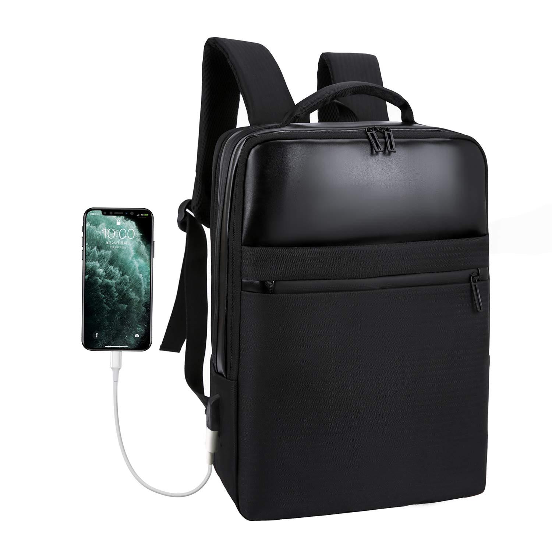 15,6 Zoll Schulrucksack mit USB-Ladeanschluss Xnuoyo Business Laptop Rucksack Wasserdicht Notebook Backpack Casual Business Daypack Reiserucksack f/ür Schule Reisen Arbeit Camping schwarz