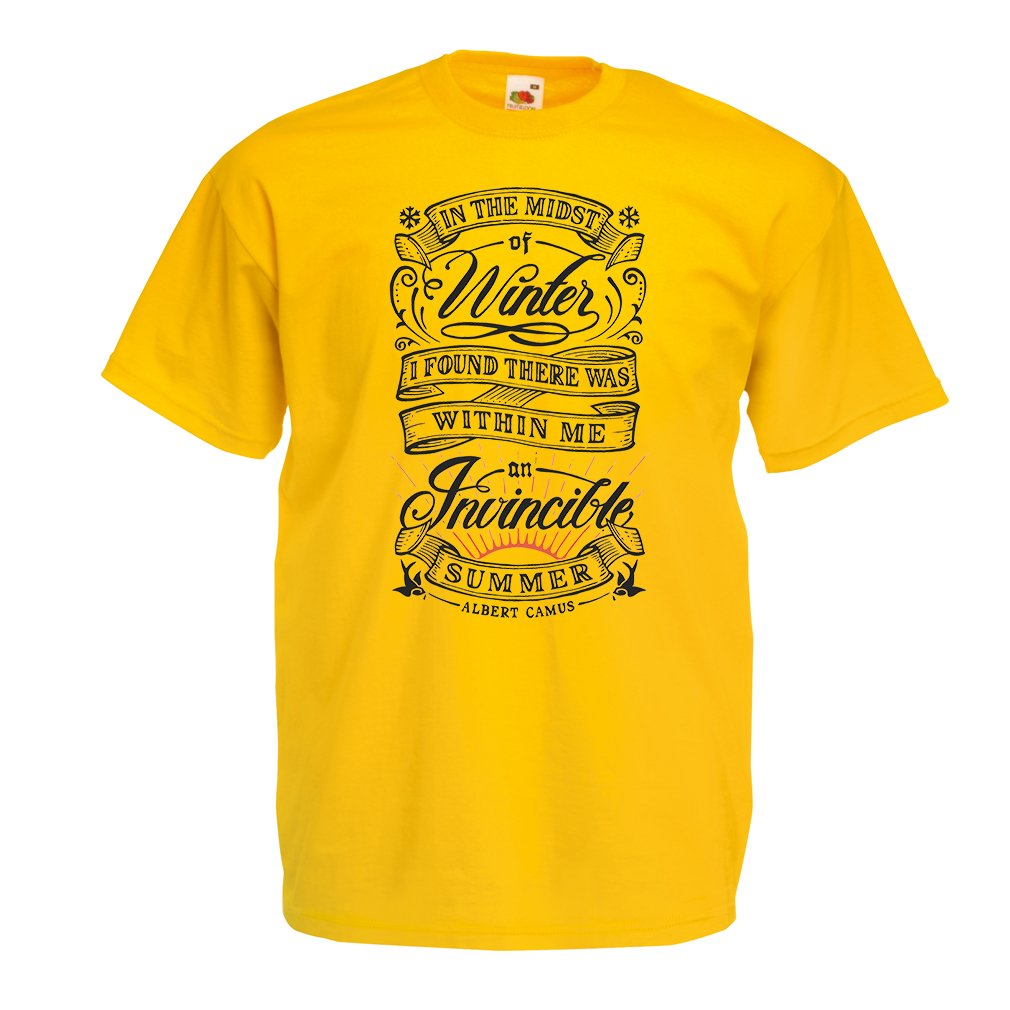 I Found There was Quotes About Life Mens T-Shirt in The Midst of Winter Within me an Invincible Summer