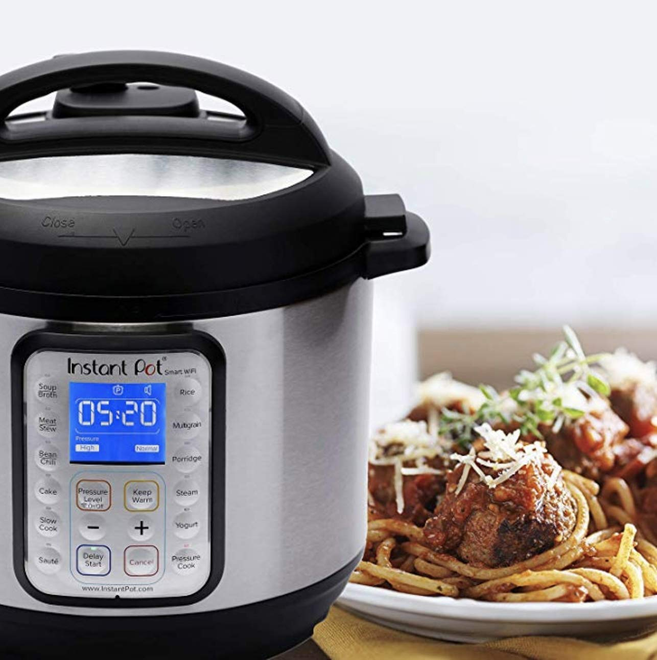 BRAND NEW Instant Pot Smart-60 WiFi 6 Qt Programmable Pressure Cooker, Slow Cooker, Silver
