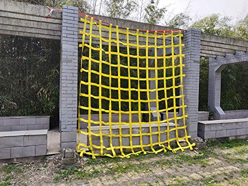 FONG 10' X 10' Climbing Cargo Net Heavy Duty - Indoor Climbing Net for Kids - Outdoor Play Sets, Jungle Gyms, Obstacle Courses - Both for Kids and Adults