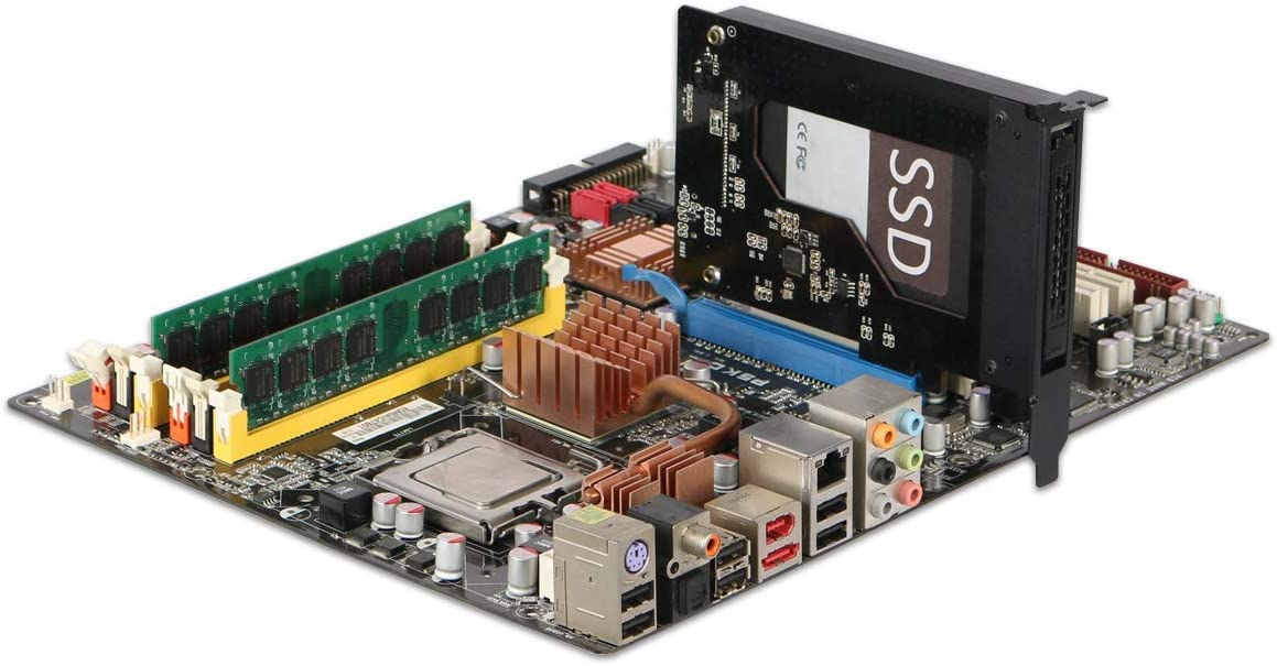 Icy Dock ToughArmor MB839SP-B Rack Amovible Hot-Swap SSD//HDD 2.5 SATA /à PCIe 2.0 x1 pour Emplacement dextention PCIe