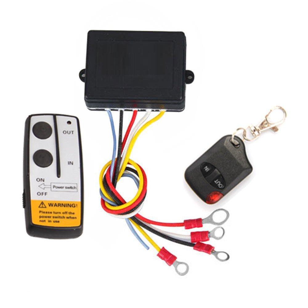 Shsyue 15m Electric Winch Wireless Remote Control System for Jeep Truck ATV Winch Tuff