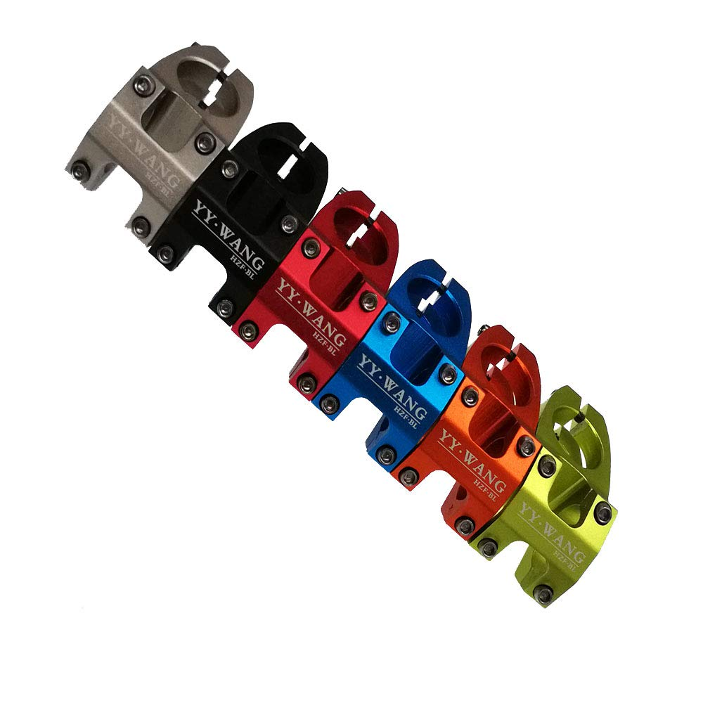 Color Azul WANG Soporte para Manillar de Bicicleta de monta/ña de aleaci/ón de Aluminio MTB tama/ño DE 31,8 mm x 28,6 x 45 mm tama/ño 31.8 * 28.6 * 45mm YY Color Negro