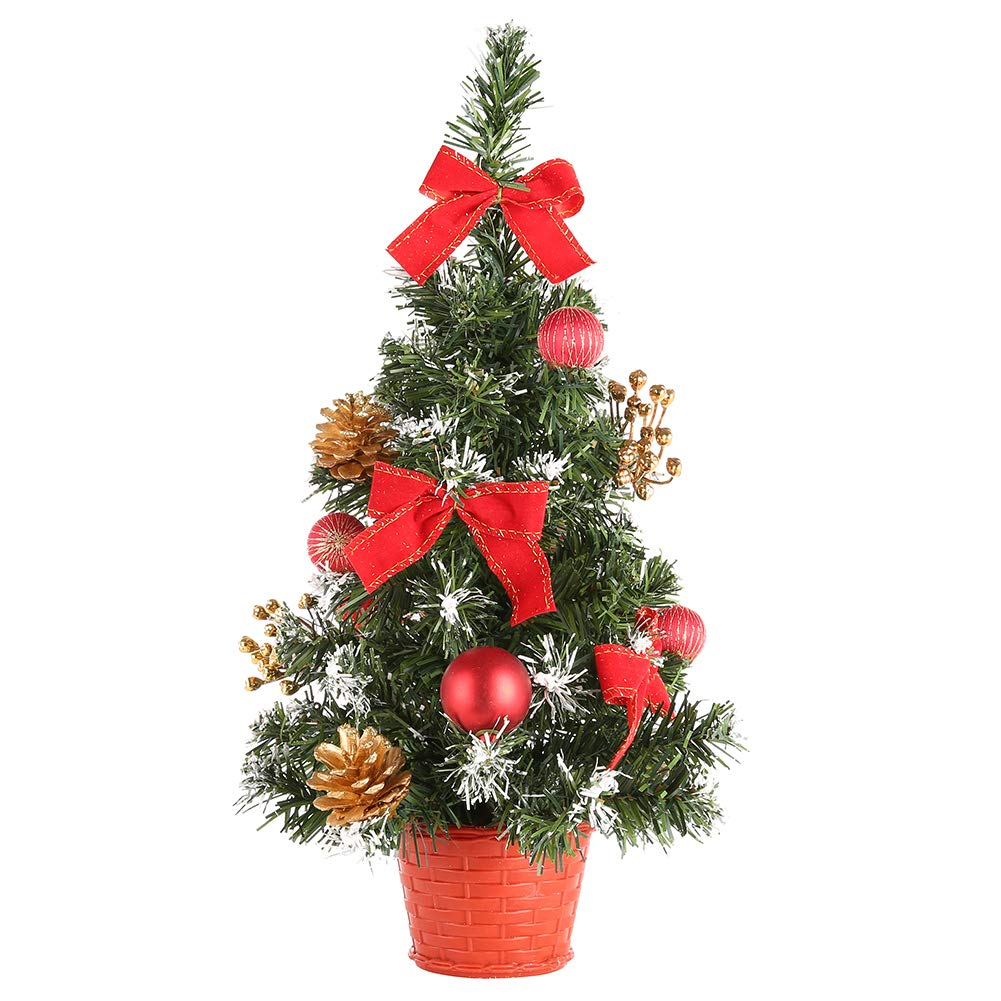 zhangwei Artificial Christmas Tree Decoration 40cm Home Ornaments Environmentally Friendly PVC, Wire