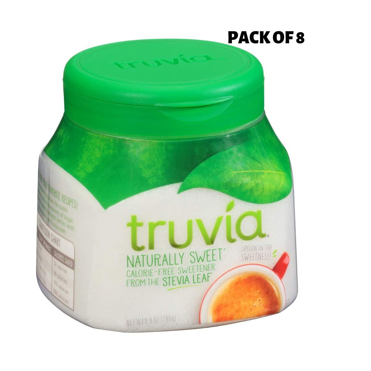 Truvia Calorie Free Sweetener, 9.8 oz jar (Pack of 4) (2 Sizes: 8 Pack)
