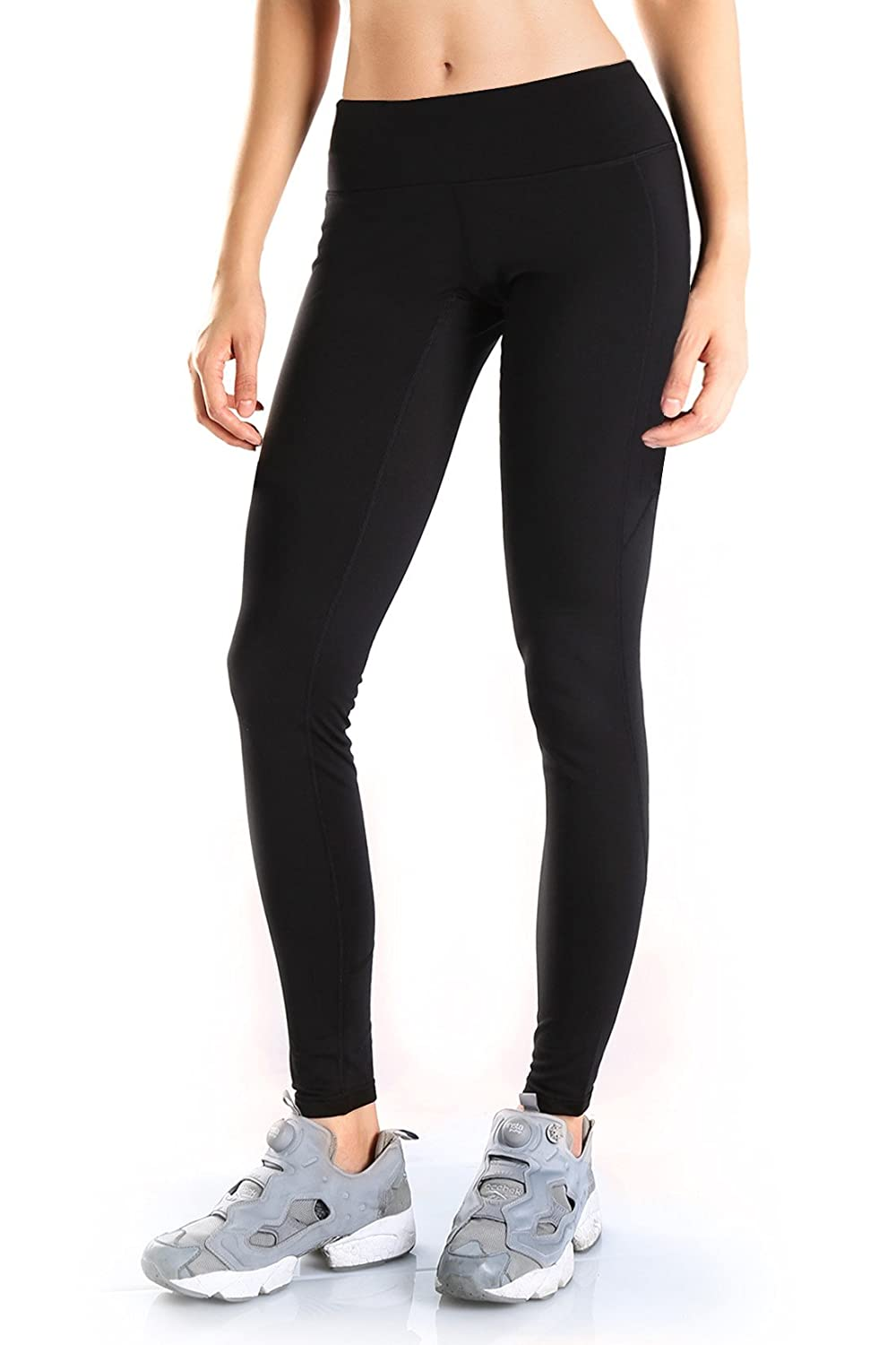 Yogipace Petite/Regular/Tall,25/28/31/34,Womens Water Resistant Fleece Lined Thermal Tights Winter Running Cycling Skiing Leggings with Zippered Pocket