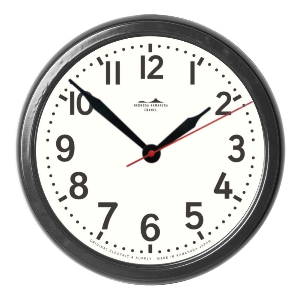 ハモサ HERMOSA 掛け時計 HK-001BK HK HORO CLOCK ブラック   B07H8YJ2VG