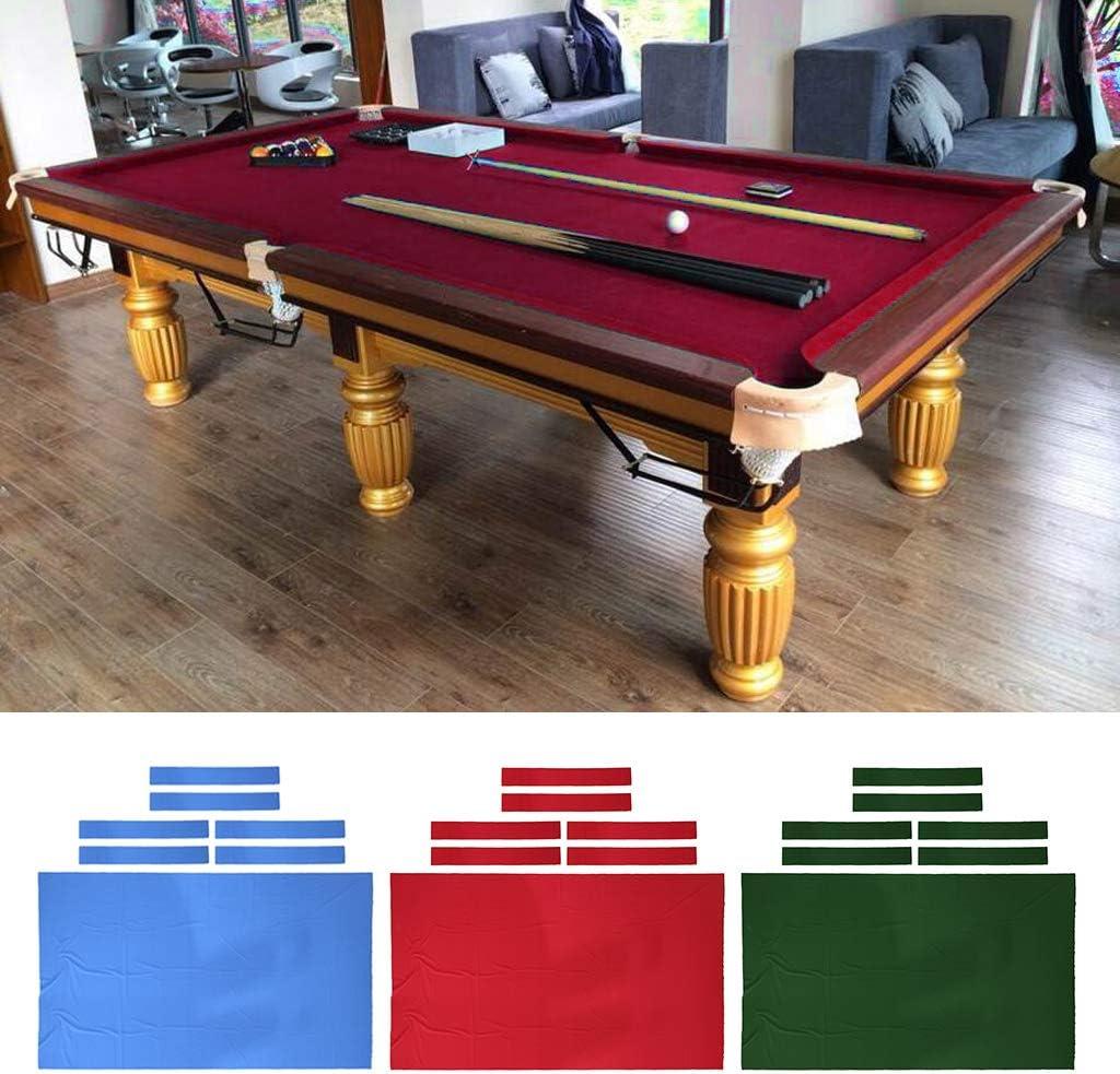 simhoa 8ft Pool Table Cloth with 6 Felt Strips for Snooker Billiard Table Maintain