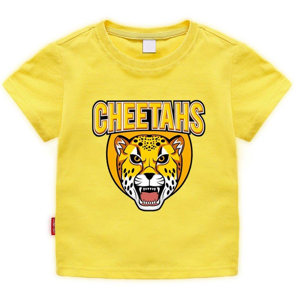 Toddler T-Shirt Cheetahs Graphic Cute Cartoon Short Sleeve Cotton Tee