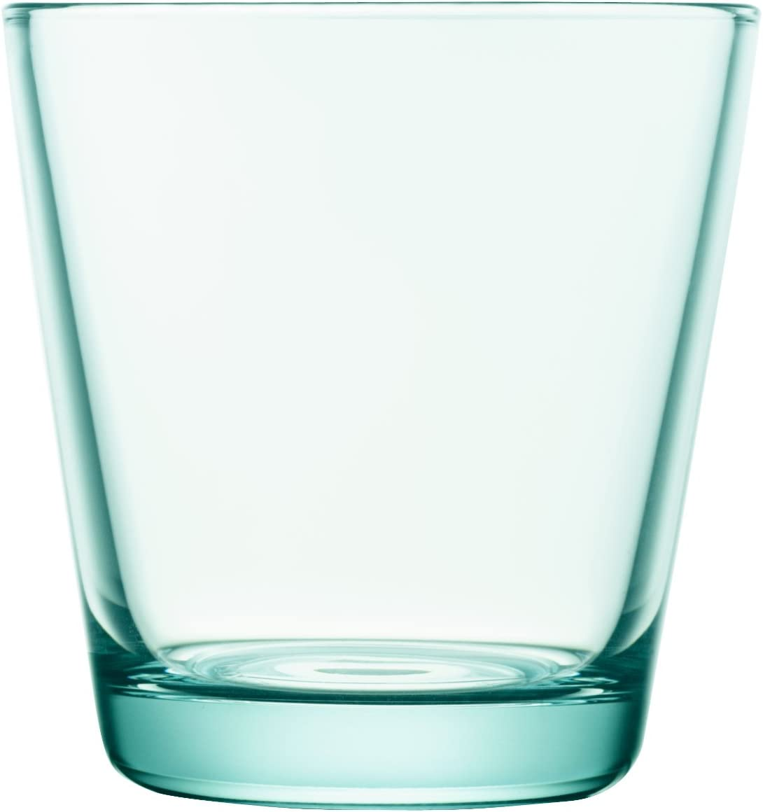 Iittala Kartio Set of Two Glass Tumblers, Water Green, 7-Ounce Capacity