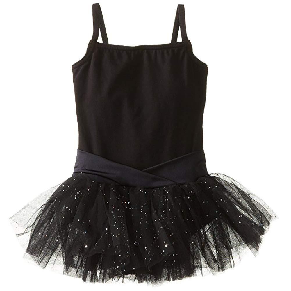 Black//Pink//Purple//Light Pink ESHOO Little Girls Sparkle Camisole Leotard Tutu Ballet Dress