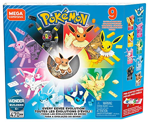 Mega Construx Pokemon Every Eevee Evolution! Pack