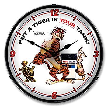 Collectable Sign and Clock 1203356 14 Esso Tiger Lighted Clock