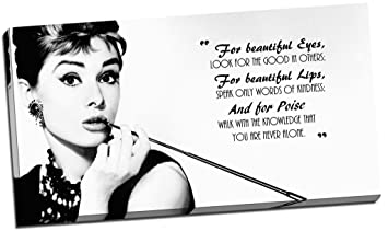 Amazonde Panther Print Kunstdruck Auf Leinwand Audrey Hepburn