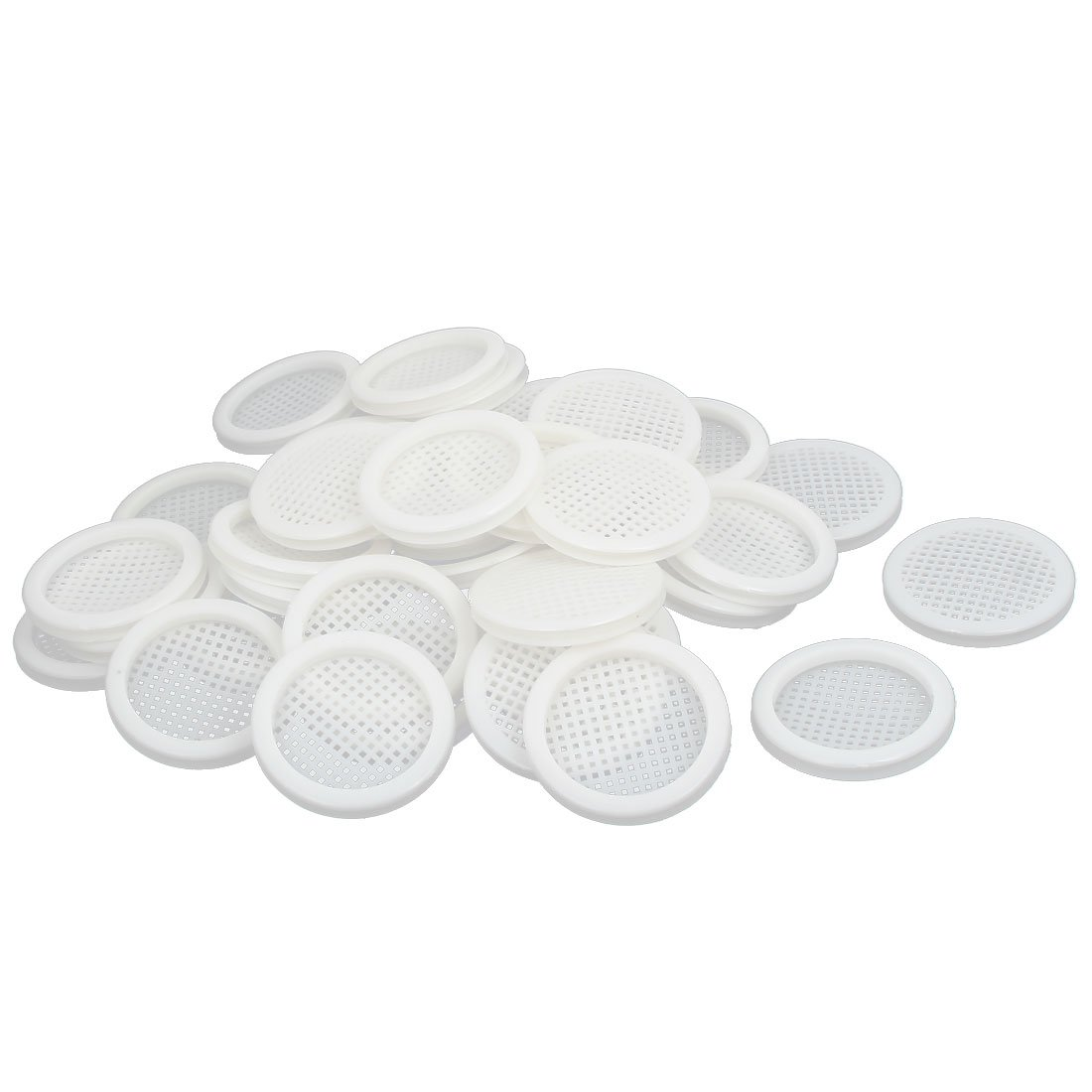 uxcell Shoes Cabinet 67mm Dia 5mm Plywood Thickness Plastic Air Vent Louver Cover 50pcs