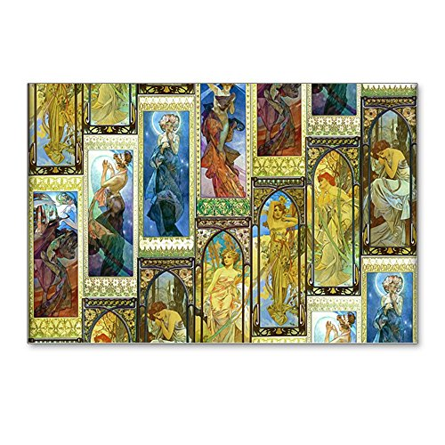 - CafePress - Mucha's Night And Day - Postcards (Package of 8), 6