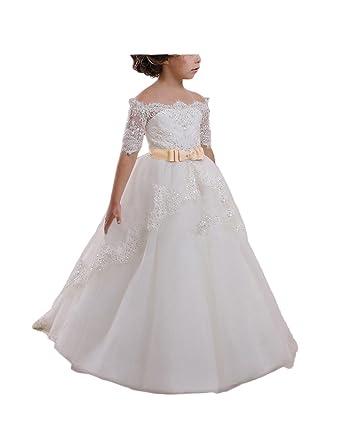 a0d3984de29 Helen Lace Flower Girls Dresses Girls First Communion Dress Princess Wedding  Cp
