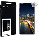 CZAR Samsung Galaxy Note 9 Screen Guard, Edge to Edge Coverage, Watch Application Steps Video, Case Friendly, Screen Protector for Samsung Galaxy Note 9 - Transparent (Pack of 1)
