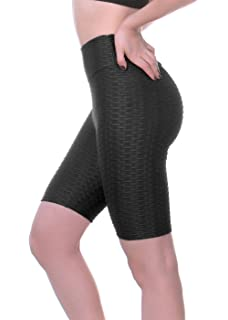 a5921c41059742 VNVNE Women's Anti-Cellulite Compression Leggings,High Waisted Textured  Yoga Pants Ruched Butt Workout