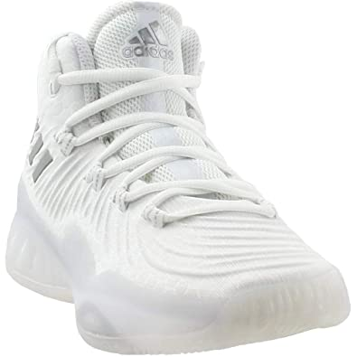 6f9f4e6a19c adidas Mens Crazy Explosive 2017 Basketball Shoe White Grey Size 8 M US