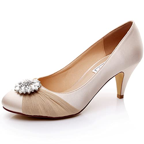 1d619c233af5 LUXVEER Lace Wedding Shoes - Heels 2 inch  Amazon.co.uk  Shoes   Bags