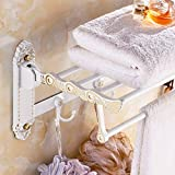 lzzfw Towel racks gold antique activities folding bathroom pendant suite towel rack, I