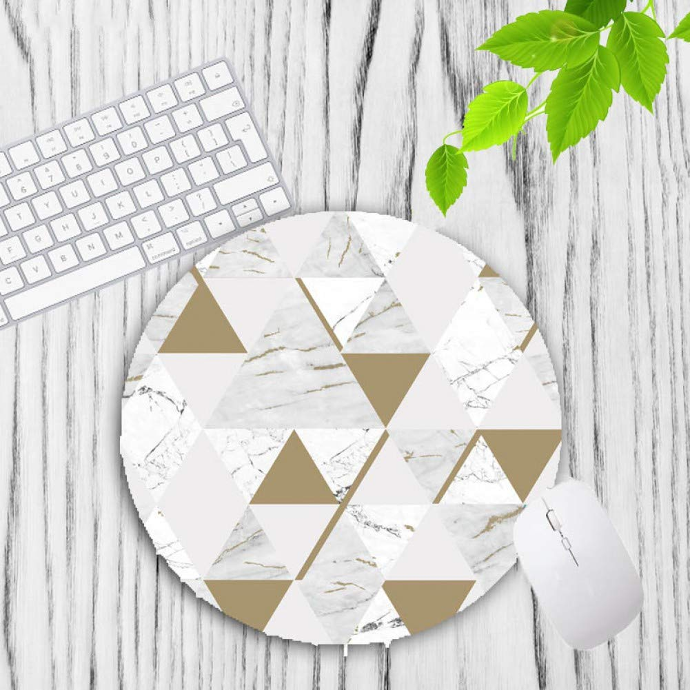 IXNSZ Mouse Pad Modern Faux Gold Glitter Marble Unique Desktop Pad Mousepads Computer Animation Round Mouse Mat Round Mice Pad by IXNSZ