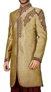 INMONARCH Sherwani for Men Golden Wedding Indo Western Sherwani Cut Work IN0239