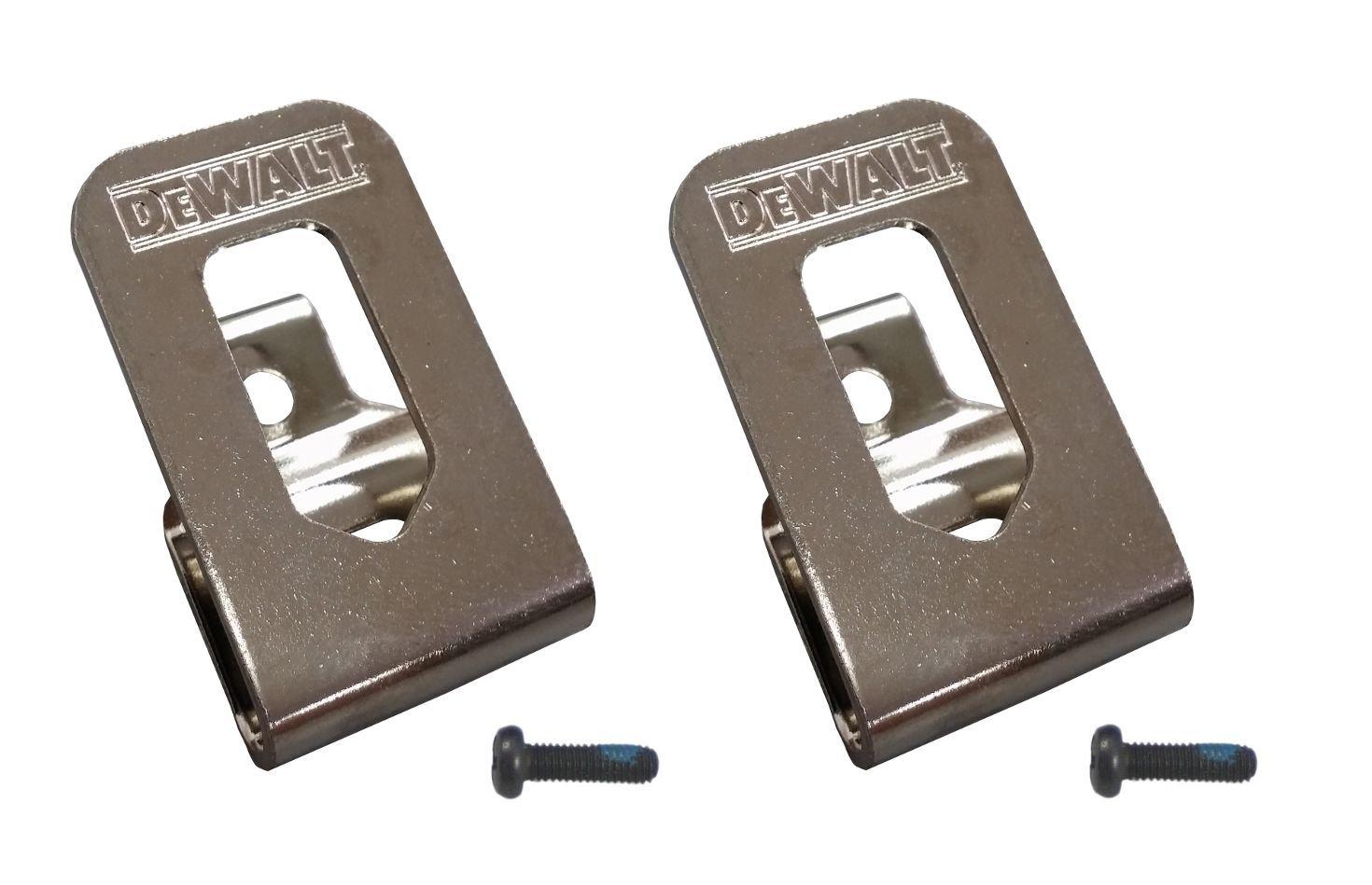 (2) N268241 DeWalt Belt Hook Clip N169778 N086039