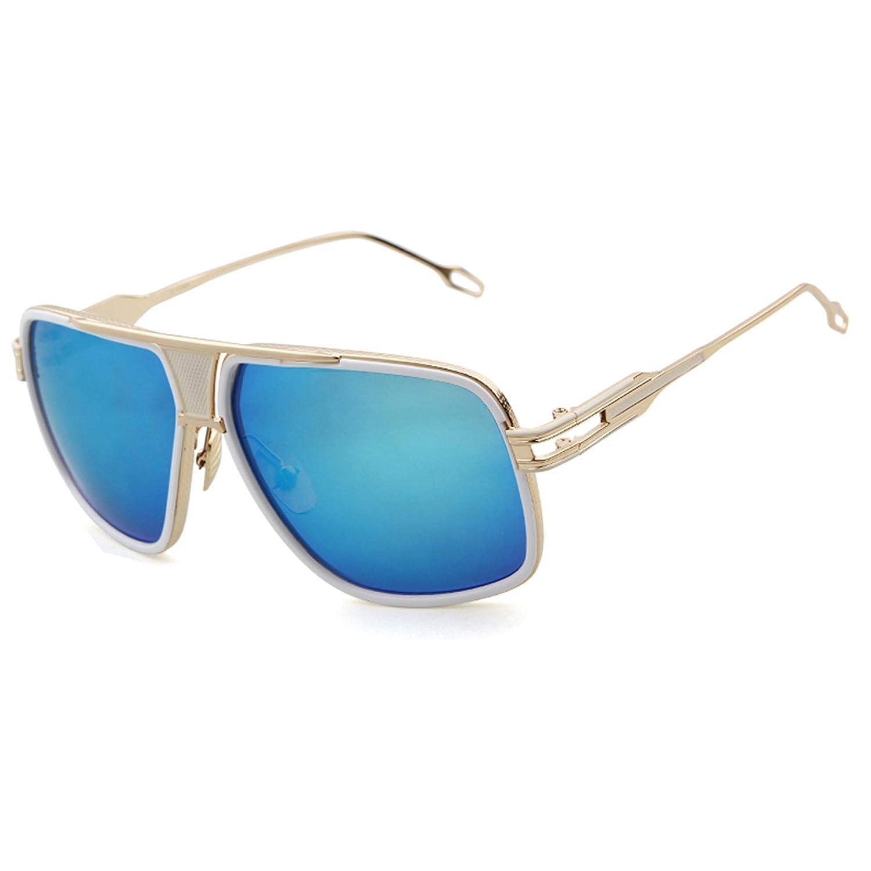 laurinny Men Sunglasses Goggle Alloy Frame Fashion Brand Designer