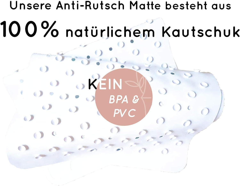 Dusch Und Badewannen Matte Extra Lang Badewannenmatte Rutschfest F/ür Die Badewanne 96x37Cm Antirutschmatte Plastik- und BPA-freie Badematte Aus Kautschuk Duscheinlage Anti-Rutsch