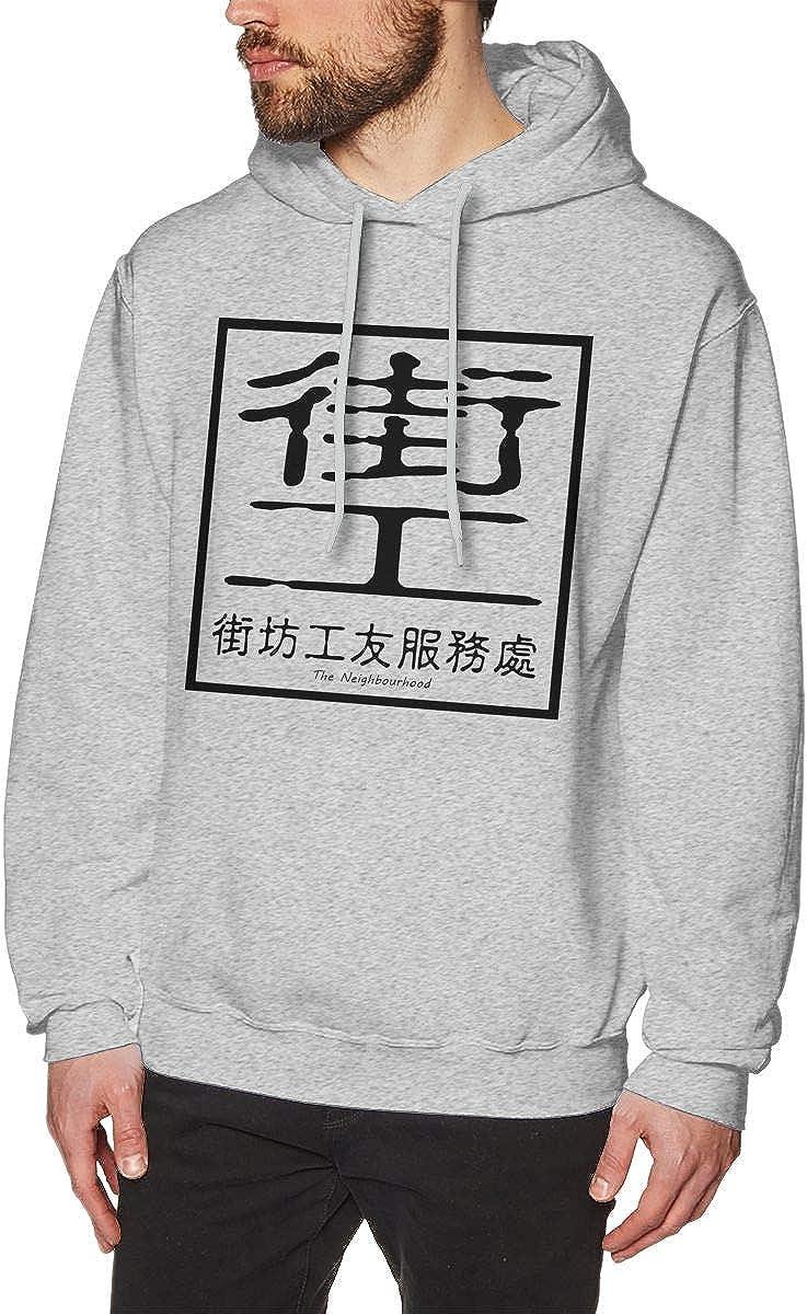 BambooPavilion Mens The Neighbourhood Leisure Gray Hoodie Sweatshirt Jacket Pullover Tops