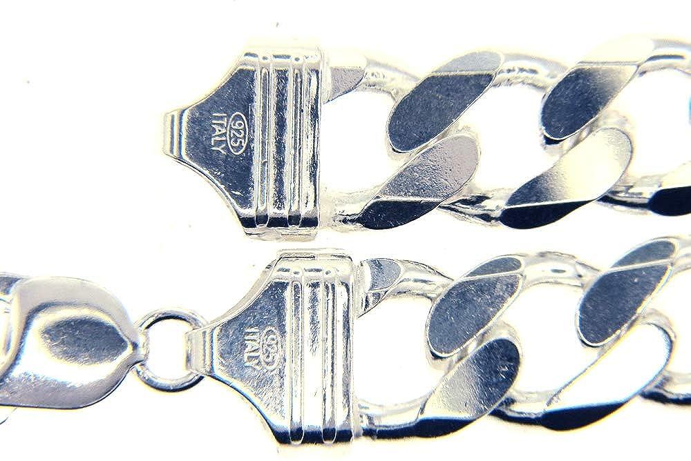 9f0a21285b49b Brilliant! Nickel Free!! Men's Sterling-silver 13mm Italian Made Figaro  Bracelet