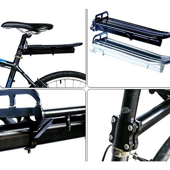 Yililay Parrilla de Bicicletas de aleación de Aluminio de Carga Plataforma Flotante MTB Trasera del Estante Equipaje de la Bici de una Silla Carrier