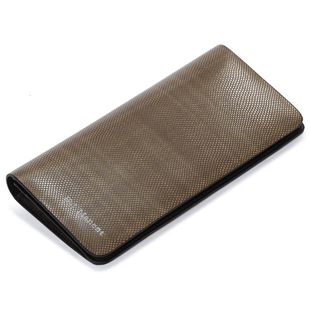 Rfid Blocking Genuine Leather Wallet Men Excellent Travel Credit Card Case Wallets Protector Money-A 19x10cm(7x4inch)