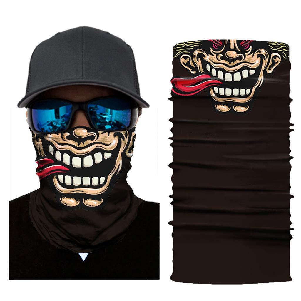 Motorcycle Mask Funny 3D Print UV Protection Balaclava Full Face Seamless Bandana Cycling Mask Zulmaliu (Multicolor C, 1PCS)