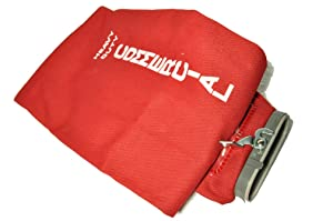 Sanitaire Upright Vacuum Cleaner Cloth Outer Bag with full length zipper, color red, will also fit Eureka Model 1400 Series, uses Style F & G paper bags, not included